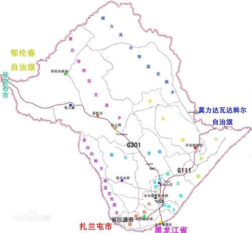 哈尔滨海拉尔地图