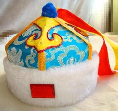 蒙古族各式帽子蒙古人的瓜皮帽全用黑白毡子作胎